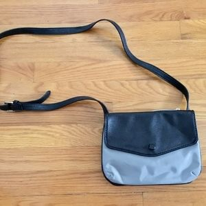 Neiman Marcus crossbody nylon/leather purse